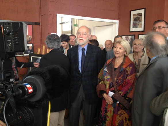 Nicolas Seydoux, Président de Gaumont, et Mme Claire Delannoy, Présidente d'honneur de l'Association des Amis de Jean Delannoy.