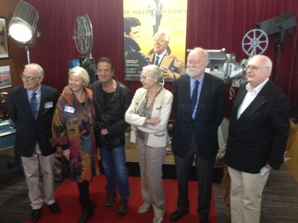 De g à d : Denis Joulain, Claire Delannoy, Francis Lalanne, Corinne Marchand, Nicolas Seydoux, Dominique Paturel