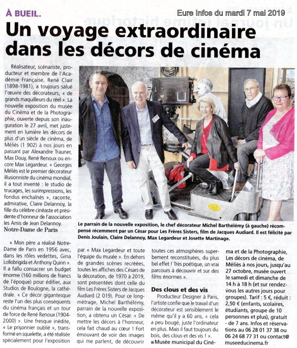 Musée du Cinéma - Article Eure Infos
